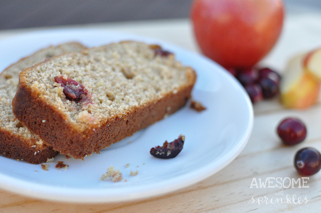 Cranberry Apple Butter Bread
