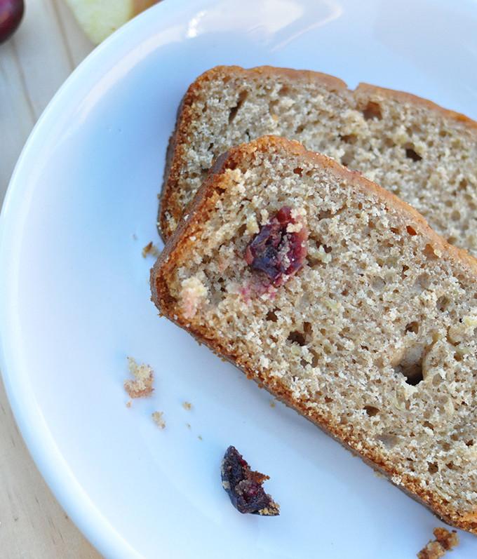 Cranberry Apple Butter Bread