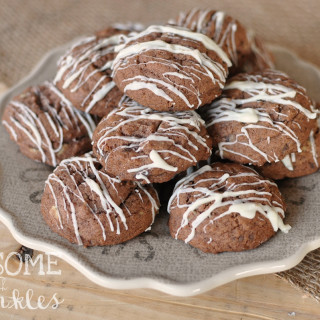 Mint Chocolate Pudding Cookies | Awesome with Sprinkles
