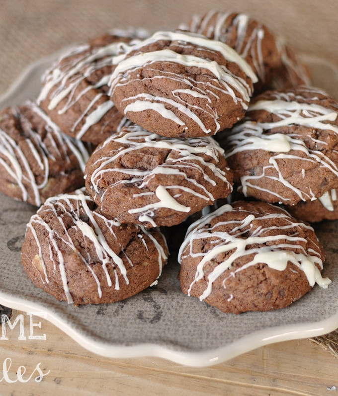 Mint Chocolate Pudding Cookies   Awesome with Sprinkles
