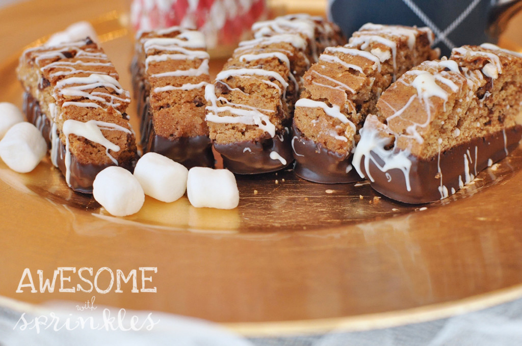 S'mores Biscotti - Awesome with Sprinkles