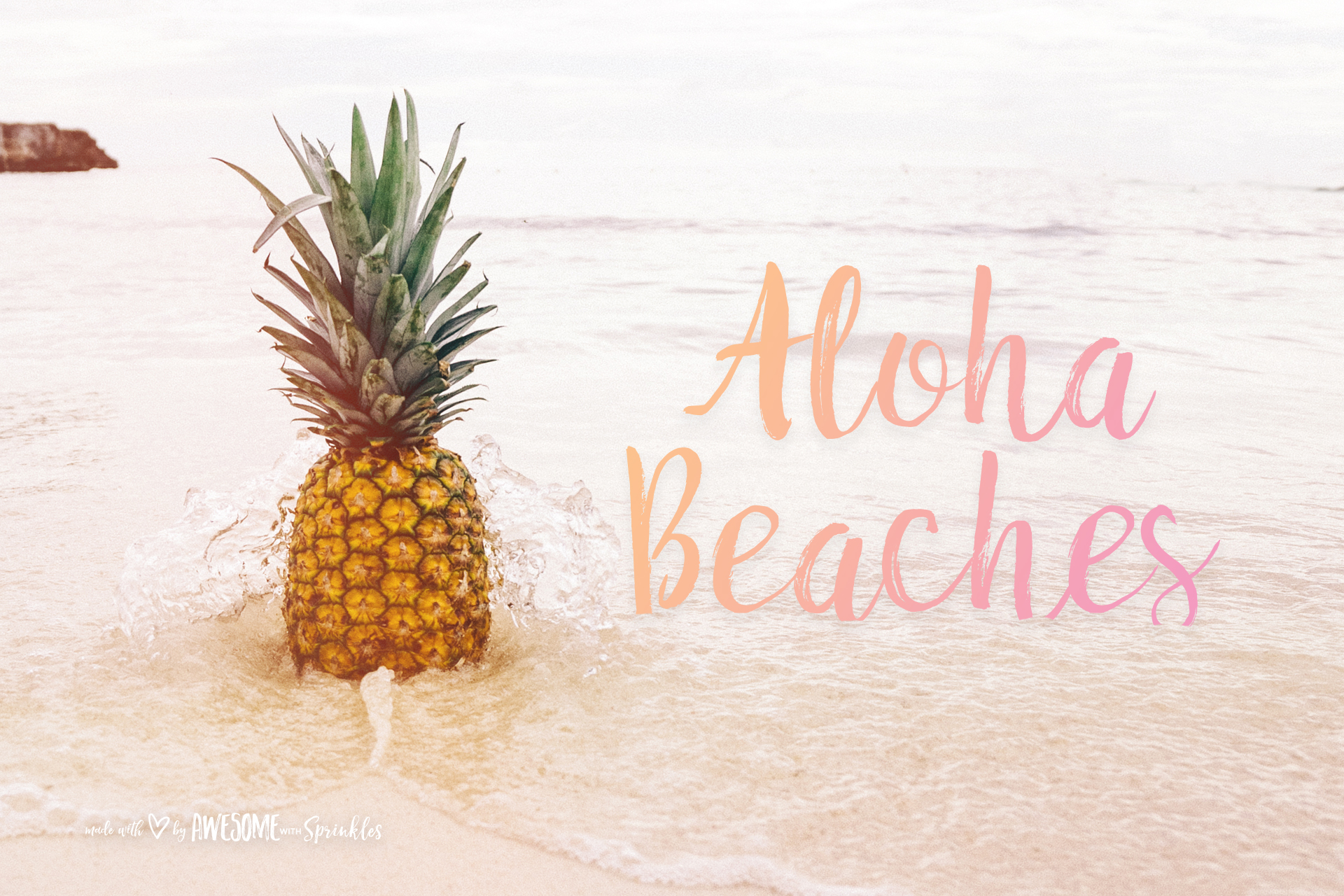 Posiquotes} Hello Summer - Awesome with Sprinkles for Pineapple Wallpaper Beach  269ane