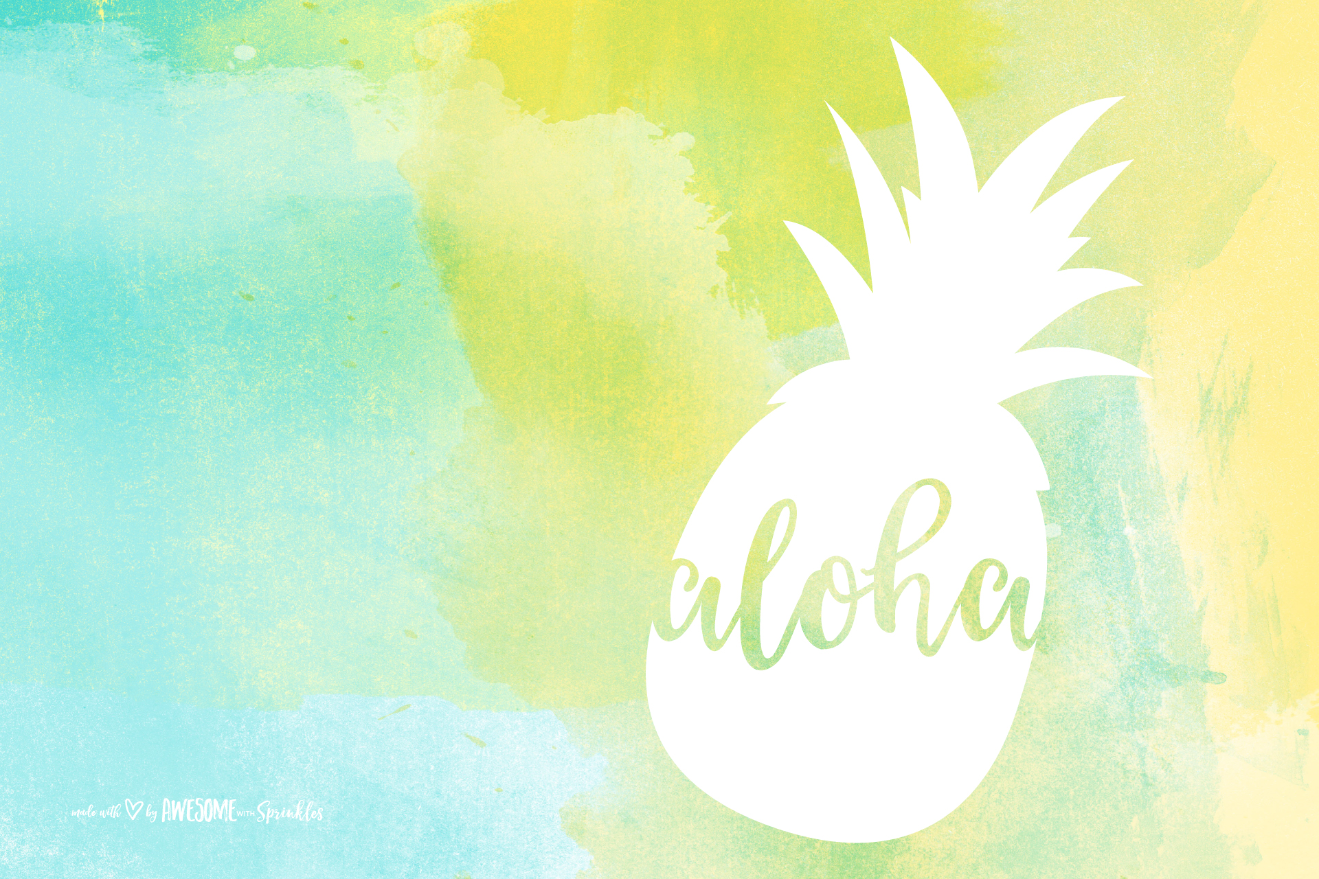 download aloha pineapple desktop wallpaper
