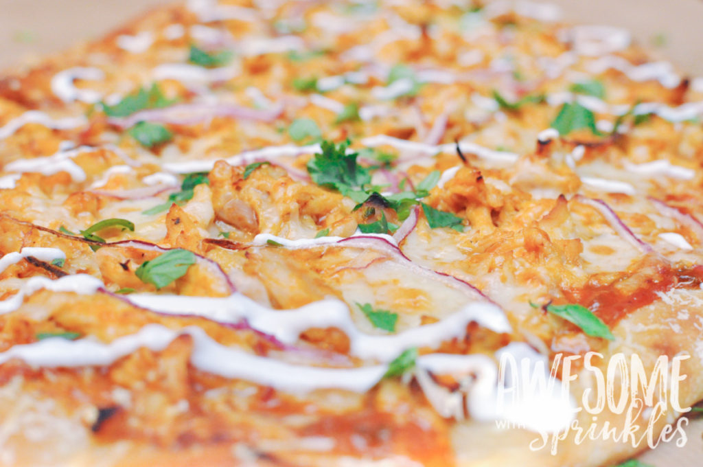 Tangy BBQ Buffalo Chicken Pizza | Awesome with Sprinkles