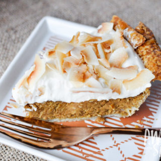 Toasted Coconut Pumpkin Pie