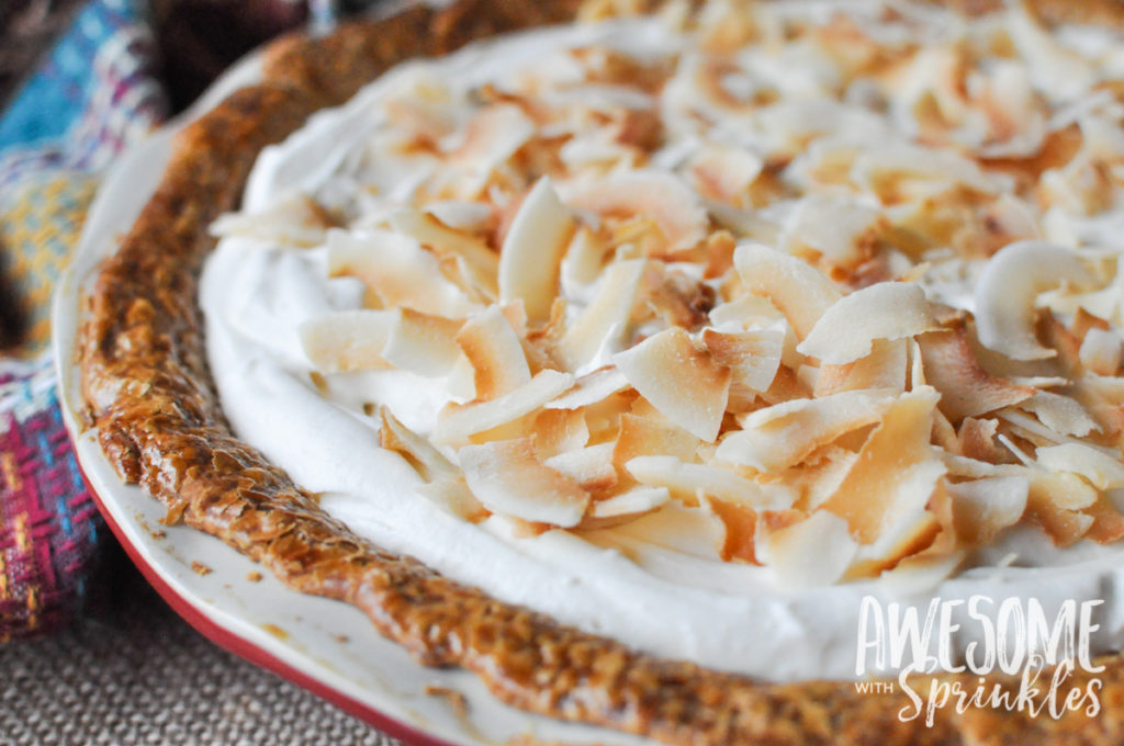 Toasted Coconut Pumpkin Pie | Awesome with Sprinkles