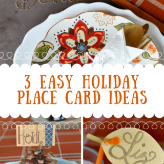 3 Easy Holiday Place Card Ideas