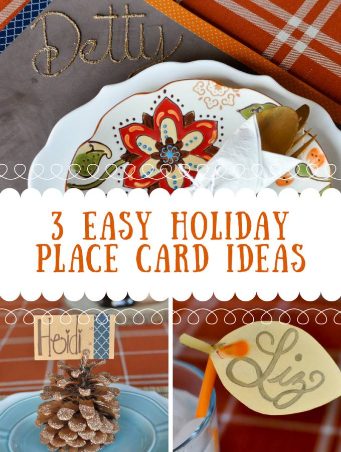 3 Easy Holiday Place Card Ideas | Awesome with Sprinkles