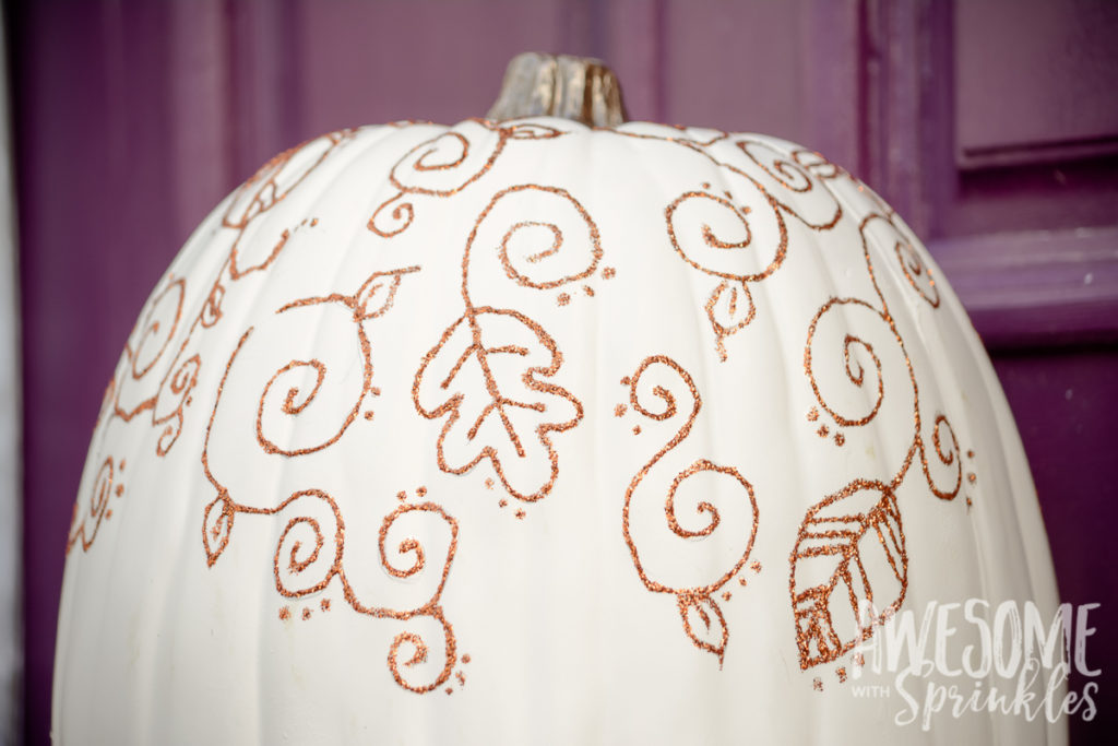 Faux Fabulous No-Carve Pumpkin Decor Craft | Awesome with Sprinkles