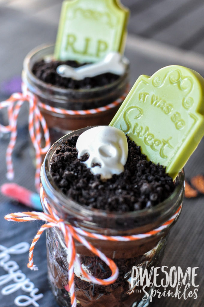 Graveyard Pudding Dirt Cups | Awesome with Sprinkles
