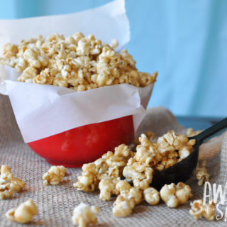 Easy 5 Ingredient Homemade Salted Caramel Corn
