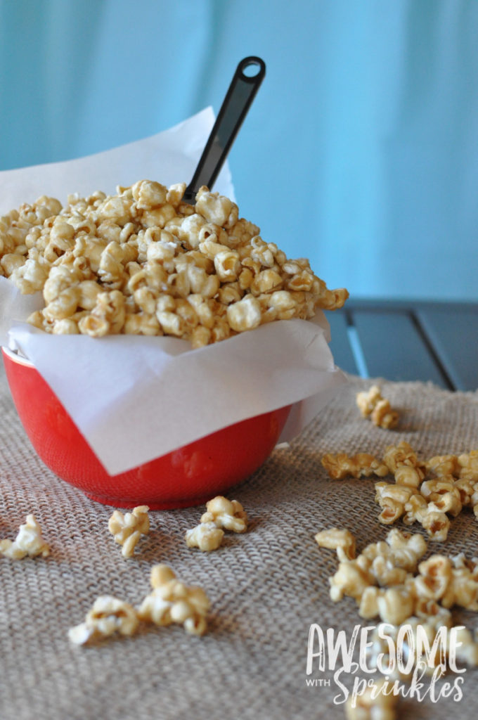 Homemade Salted Caramel Corn | Awesome with Sprinkles