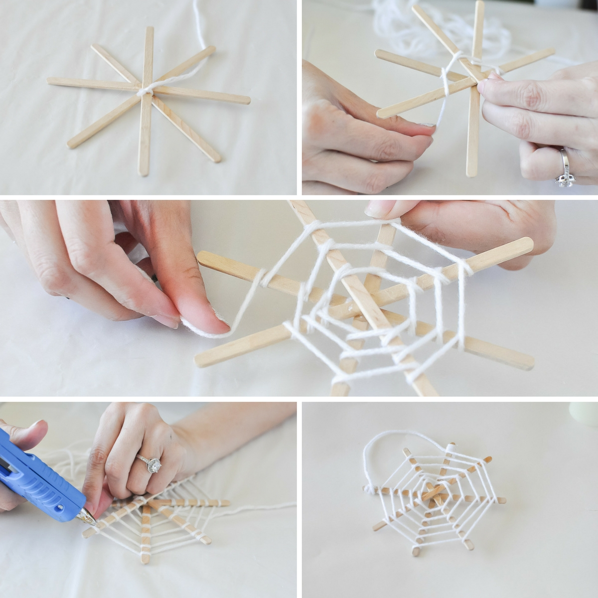 String-Five-Minute-Spiderweb Craft | Awesome with Sprinkles