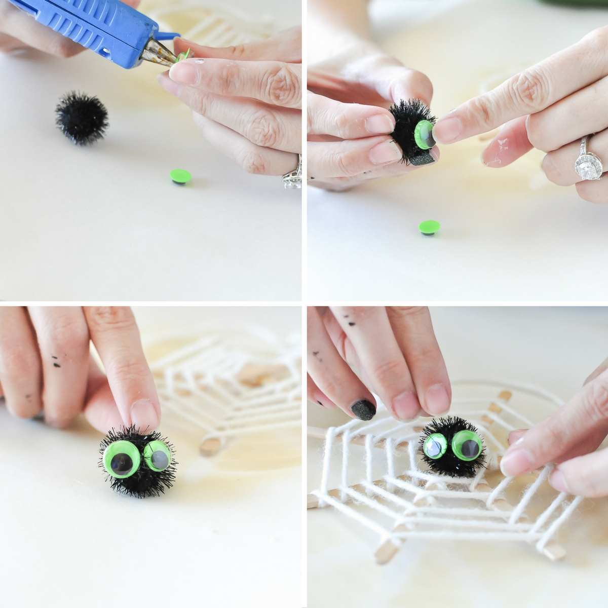 Spider-Five-Minute-Spiderweb Craft | Awesome with Sprinkles