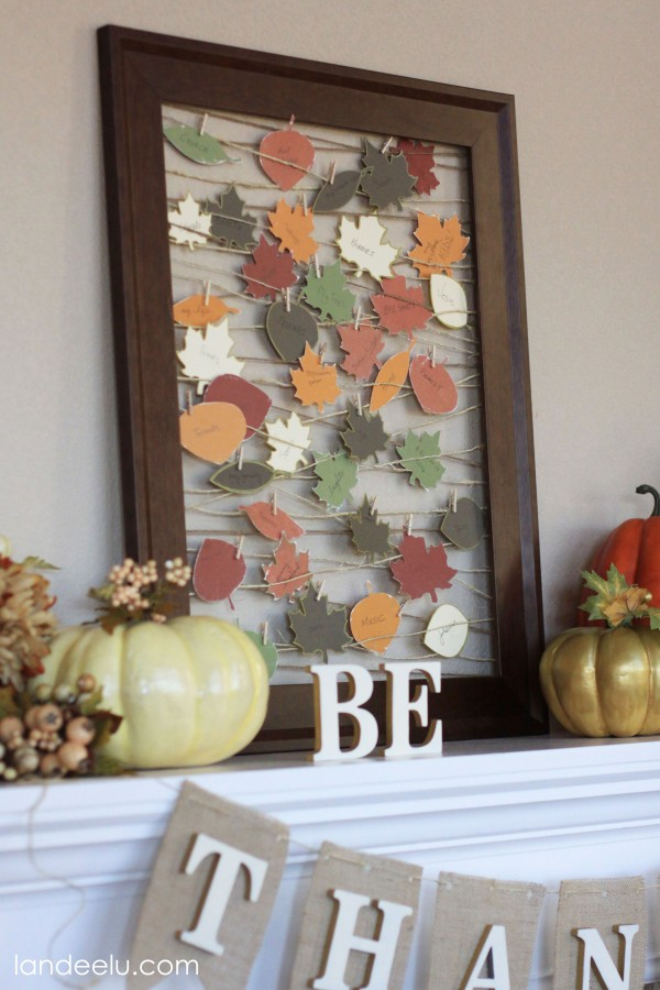 Thankful Tree Round-up | Gratitude Frame