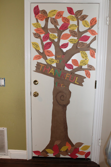 Thankful Tree Round-up | Door Tree