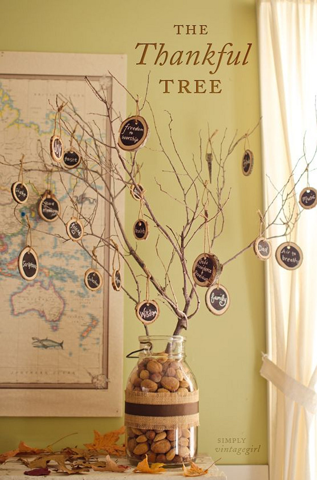 Thankful Tree Round-up | Chalk board Tree