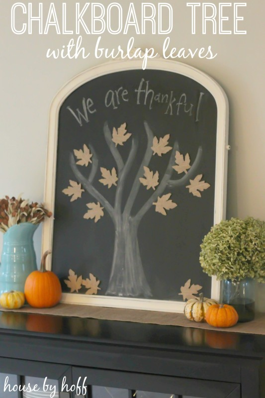 Thankful Tree Round-up | Thankful Chalkboard Mirror