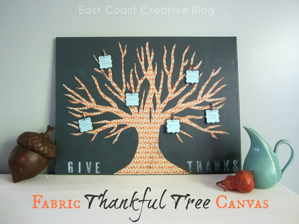 Fabric Thankful Tree Canvas