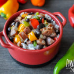 Hot Pepper Hash with Chicken Sausage & Coconut Rice