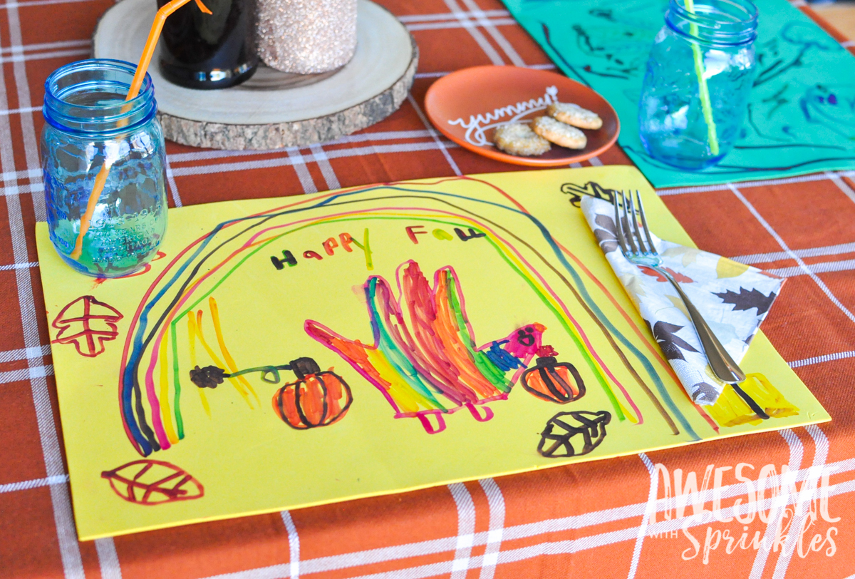 thanksgiving placemat kids crafts awesome with sprinkles