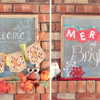 Easy Seasonal Swap Holiday Sign