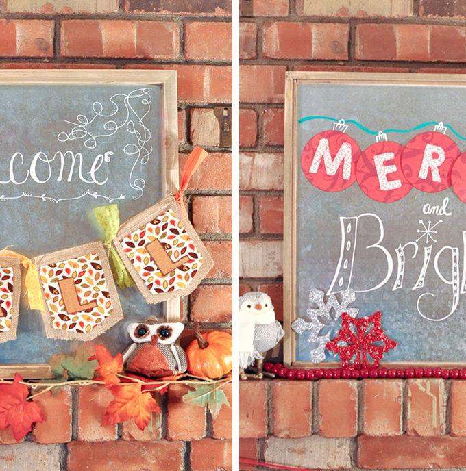 Easy DIY Seasonal Swap Sign | Awesome With Sprinkles