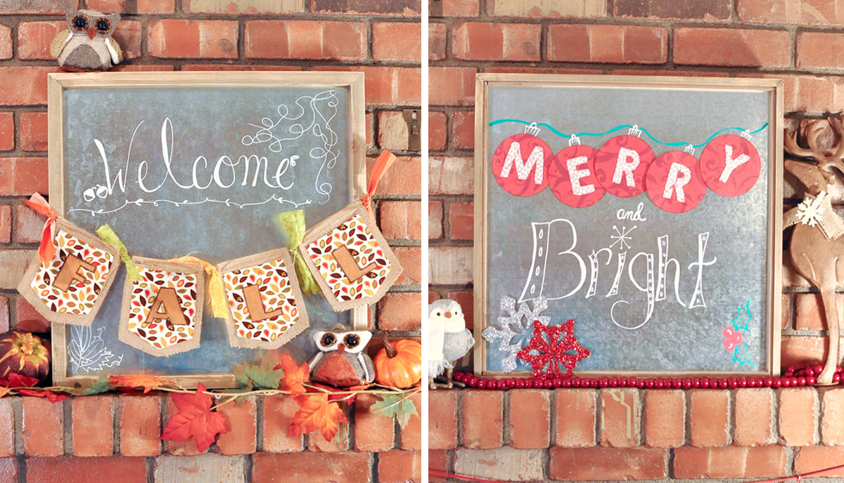 Easy DIY Seasonal Swap Sign | Awesome With Sprinkles