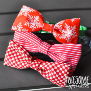 No-Sew Pet Collar Bow Ties