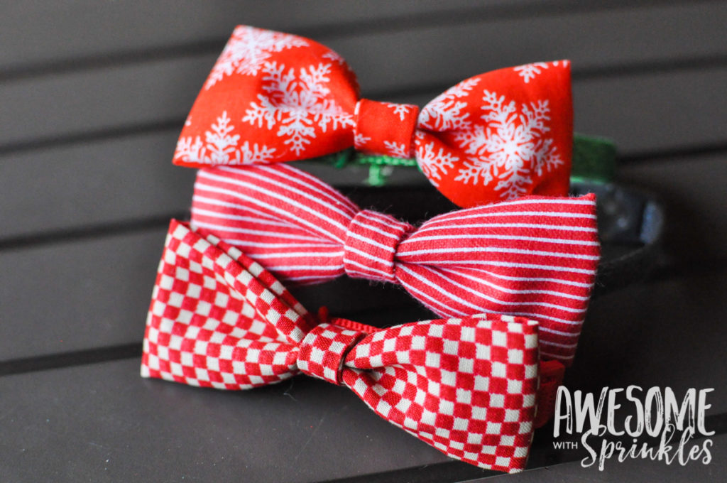 No-Sew Pet Collar Bow Ties | Awesome with Sprinkles