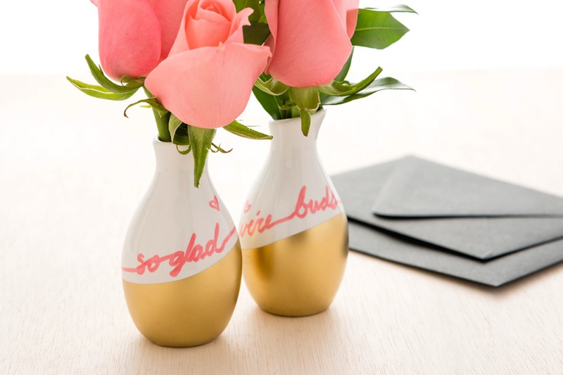 """Best Buds"" Bud Vase from DIY Galentine's Day Gift Ideas Round Up 