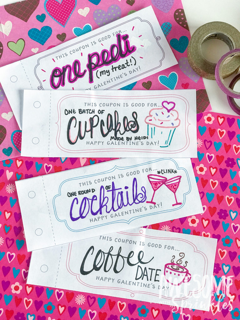 DIY Galentine's Day Coupons || Awesome with Sprinkles