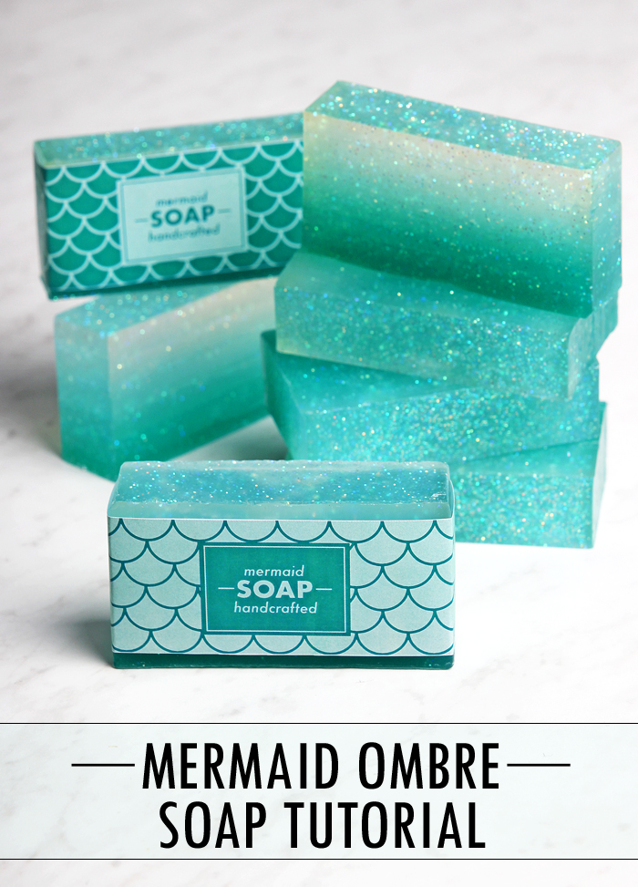 Mermaid Ombre Soap from DIY Galentine's Day Gift Ideas Round Up || Awesome with Sprinkles