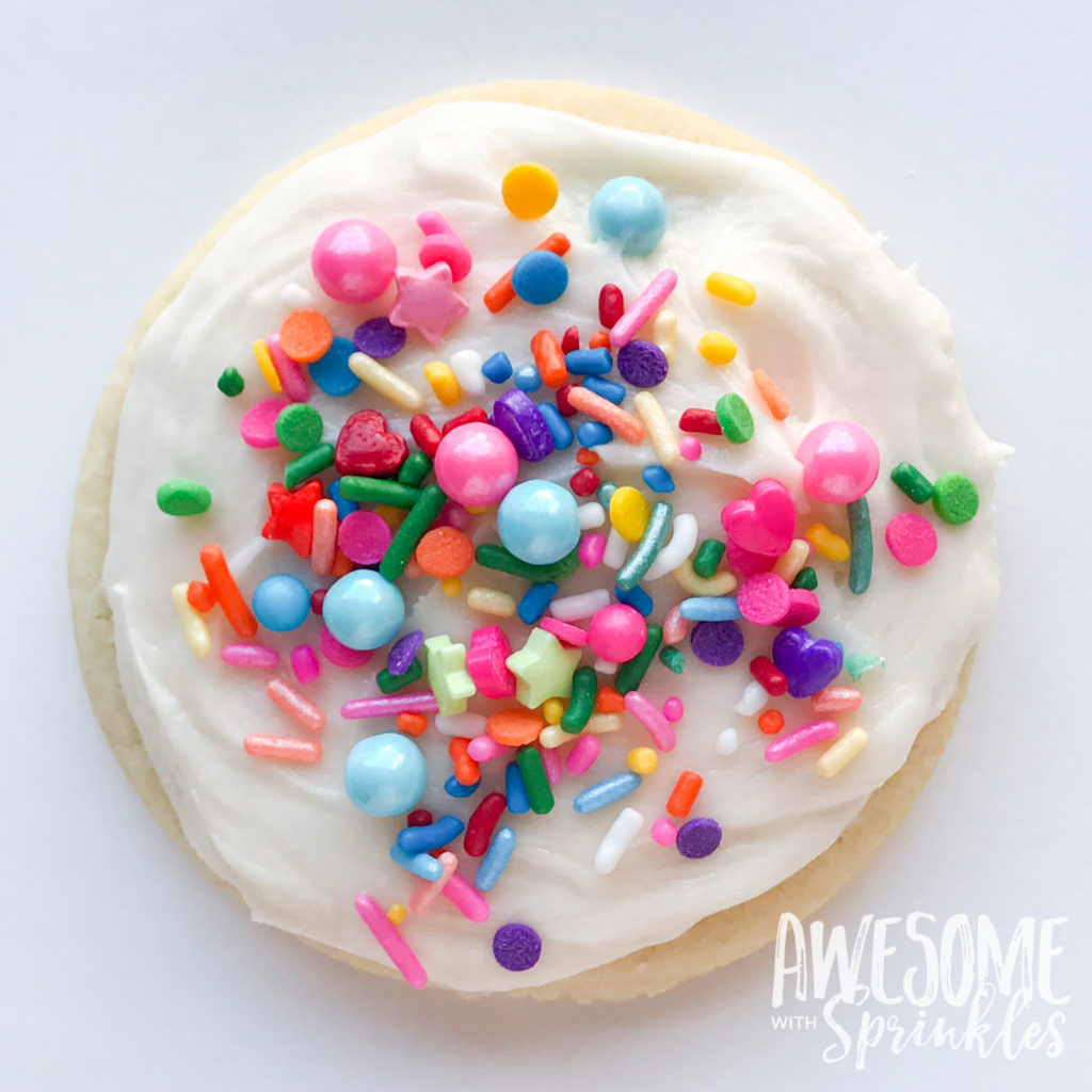 The Most Awesome Ever Sugar Cookies by Awesome with Sprinkles