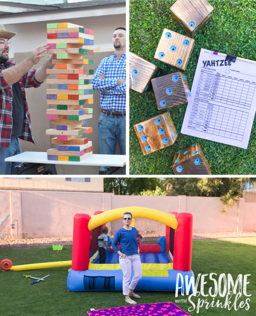 "Patio games perfect for a ""Lawn Party"""