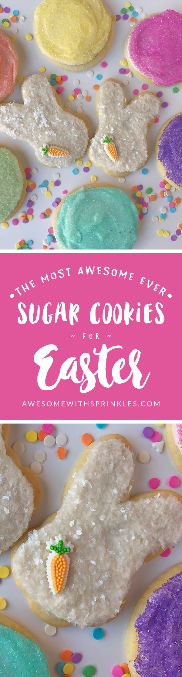 The Most Awesome Ever Sugar Cookies for Easter | Awesome with Sprinkles