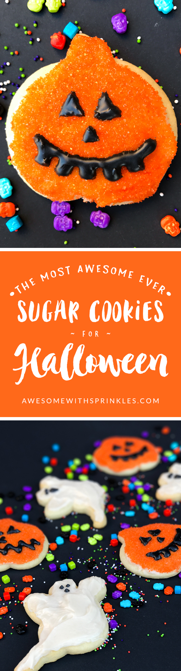 The Most Awesome Ever Sugar Cookies for Halloween | Awesome with Sprinkles