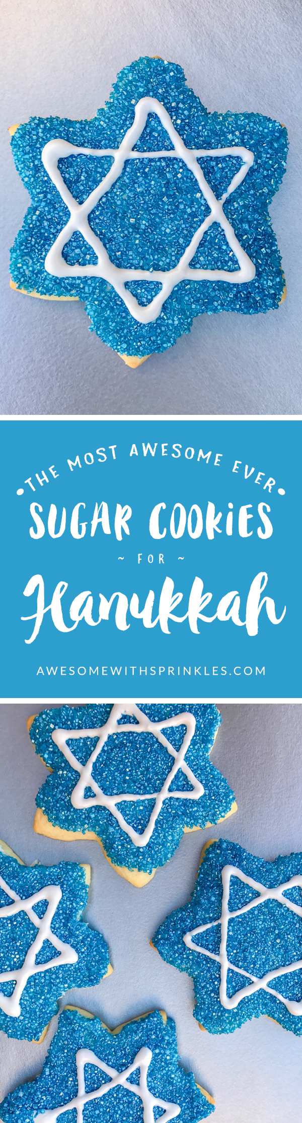 The Most Awesome Ever Sugar Cookies for Hanukkah | Awesome with Sprinkles