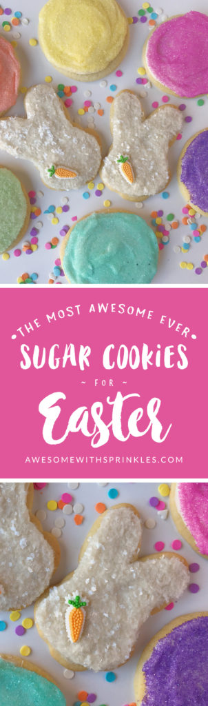 The Most Awesome Ever Sugar Cookies decorated for Easter | Awesome with Sprinkles