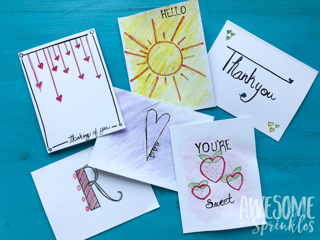 Custom Watercolor Cards | Awesome with Sprinkles