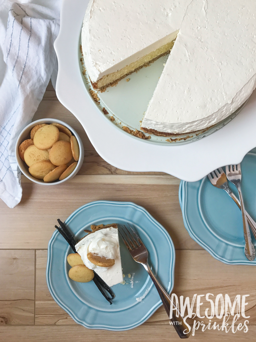 Easy Vanilla Mousse Cheesecake | Awesome with Sprinkles