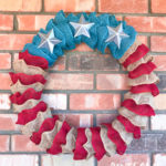 Stars & Stripes Burlap Ruffle Wreath