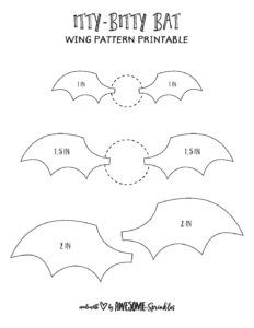 photograph relating to Golden Snitch Wings Printable known as bitty-bat-wings-template - Incredible with Sprinkles