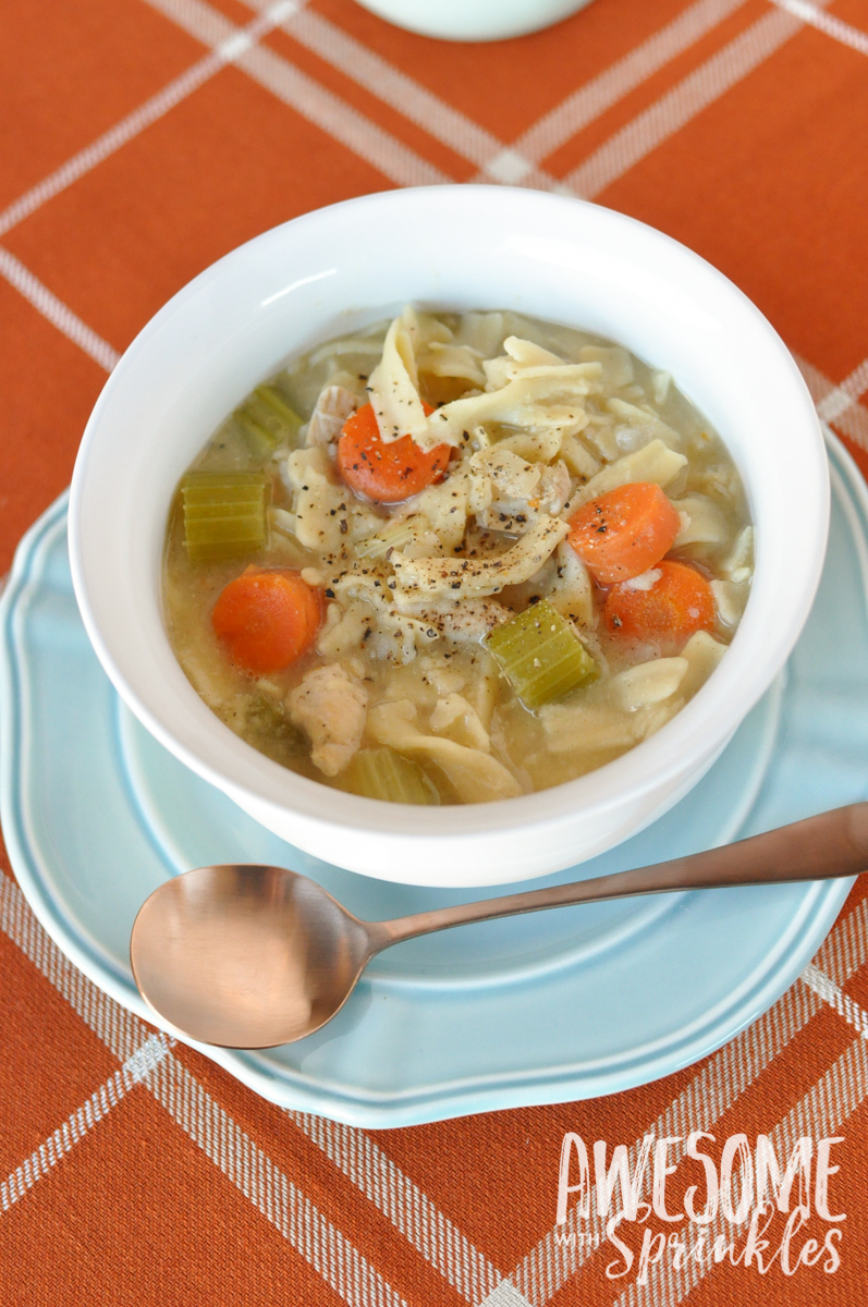 Sick-Day Chicken Noodle Soup | Awesome with Sprinkles