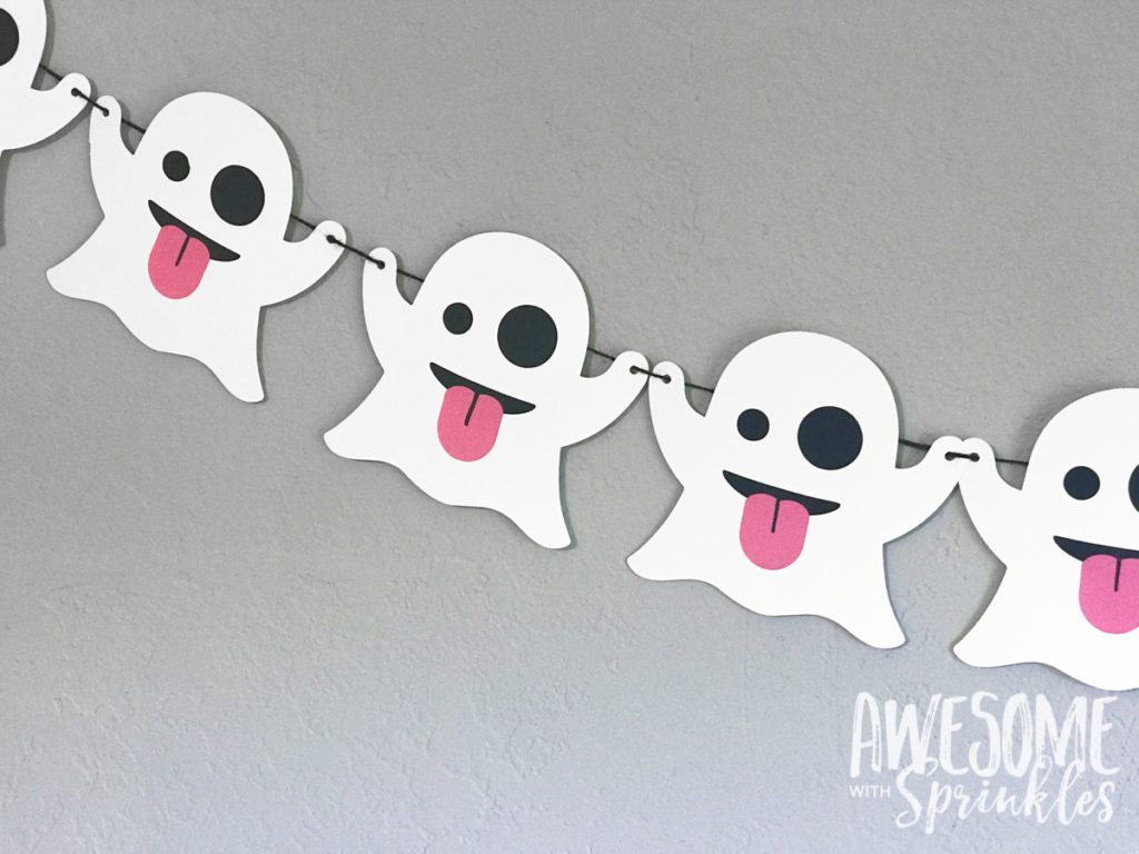Emoji Ghost Banner | Awesome with Sprinkles