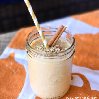 Easy Pumpkin Pie Oatmeal Smoothie | Awesome with Sprinkles
