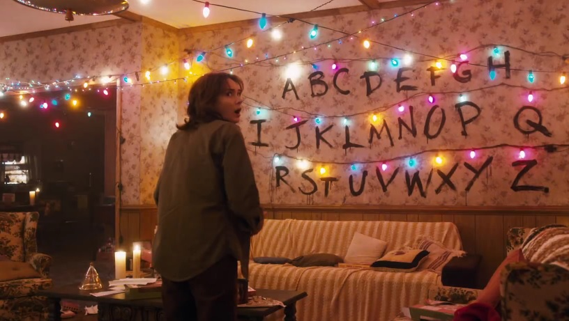 Stranger Things Alphabet Wall