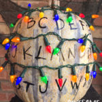 Stranger Things Alphabet Wall Pumpkin Decor
