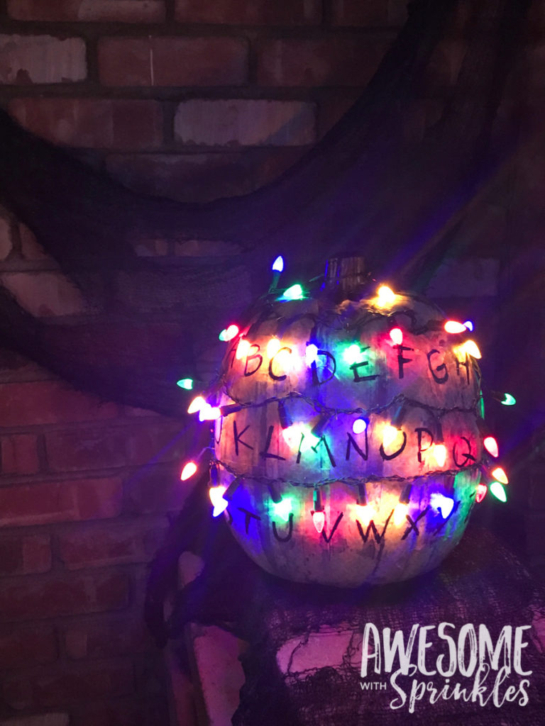 Stranger Things Alphabet Wall Pumpkin | Awesome with Sprinkles