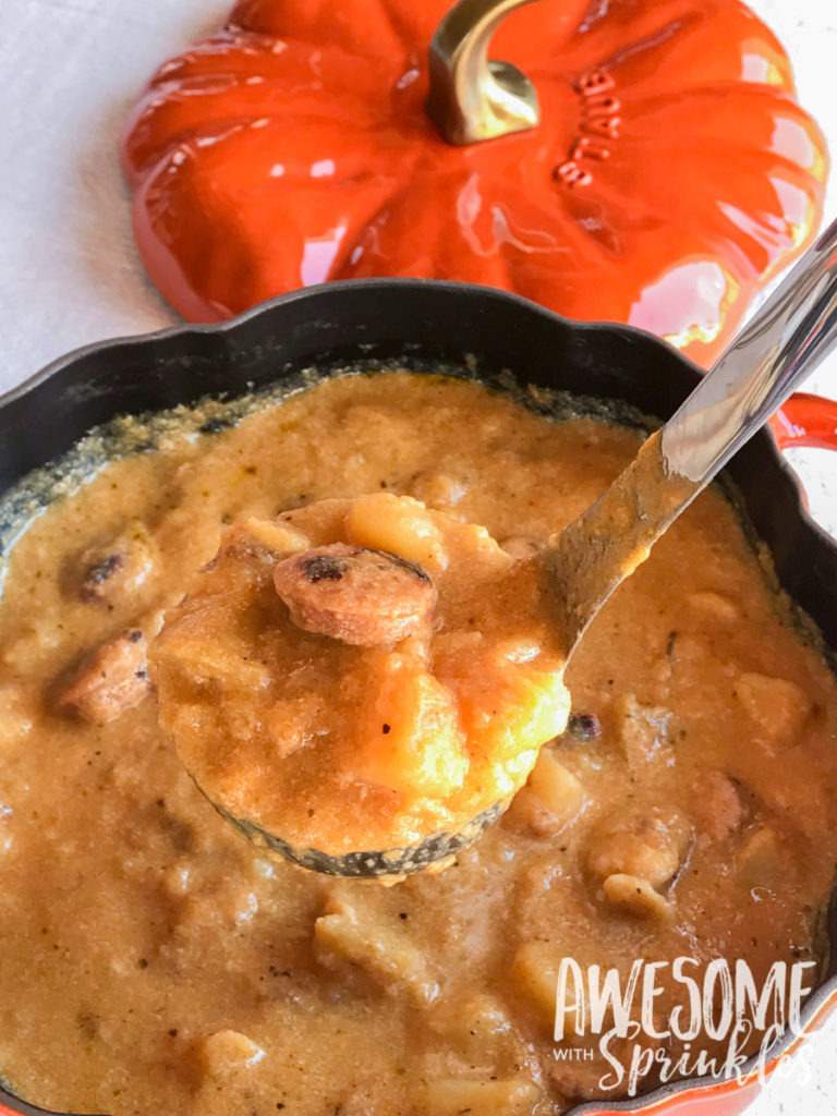 Hearty Harvest Soup with Apple, Pumpkin, Potato and Sausage | Awesome with Sprinkles
